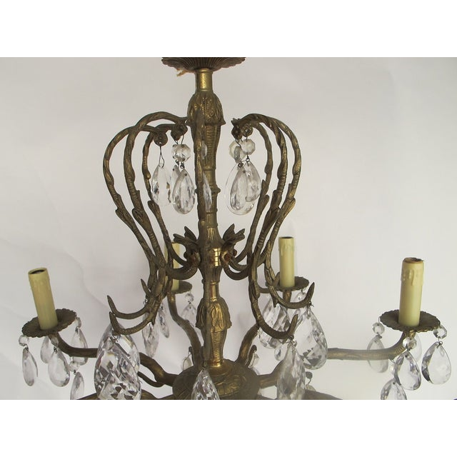 1950's Hollywood Regency Crystal Chandelier - Image 5 of 6