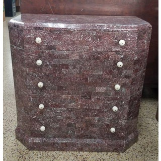 Art Deco Stylized Maitland Smith Lilac Tessellated Stone Chest of Drawers Preview