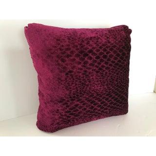 "Osborne & Little Fuchsia Newly Made Chenille 19.5"" Pillow Preview"