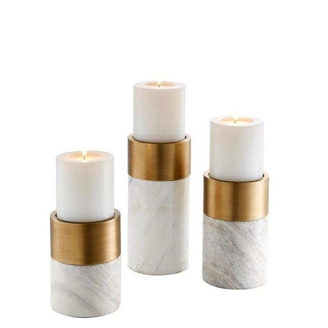 Marble Candle Holder Set | Eichholtz Sierra For Sale - Image 4 of 4