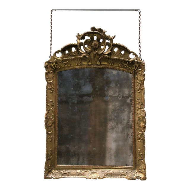 18th Century Mirror, Régence Giltwood For Sale