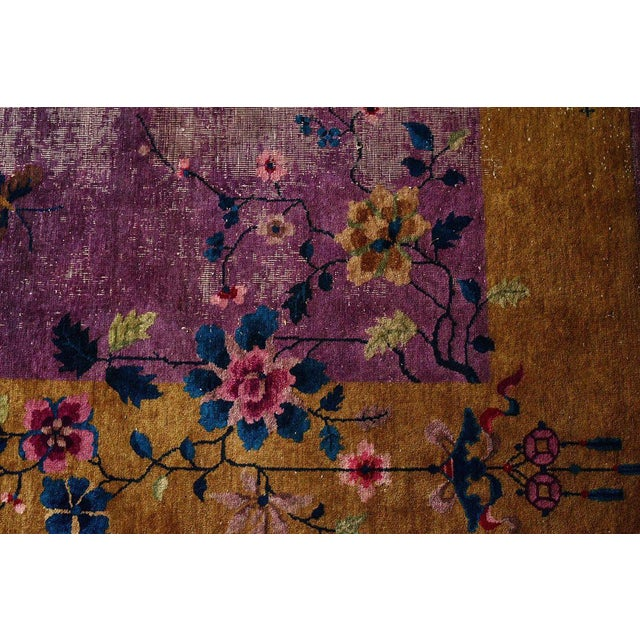 Art Deco Chinese Art Deco Room Size Rug - 10′2″ × 13′5″ For Sale - Image 3 of 7