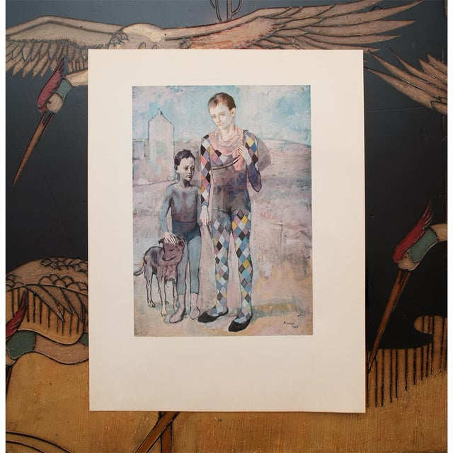 1950s Picasso, Original Period Blue Harlequin Lithographs - a Pair For Sale In Dallas - Image 6 of 13