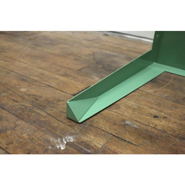 1950s Mint Green Mid-Century Powder Coated Steel Coffee Table For Sale - Image 9 of 13