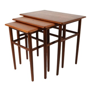 Set of Danish Teak Nesting Tables For Sale