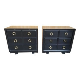 Mid Century Modern t.h. Robsjohn-Gibbings for Widdicomb Lacquered Dressers - Pair For Sale