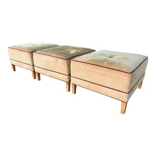 Modern Ethan Allen Ottomans - Set of 3 For Sale