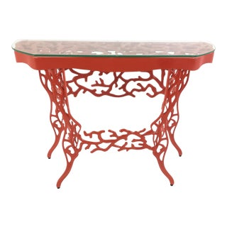 Currey & Co. Coral Console Table For Sale