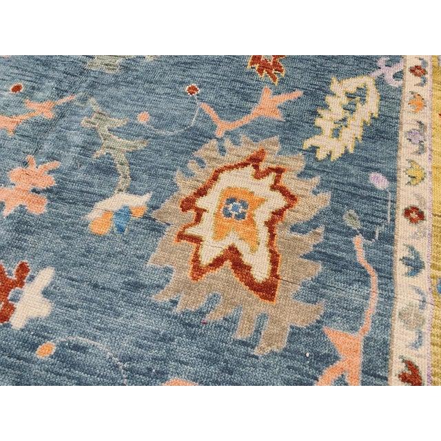 Blue Oushak Rug- 8′ × 10′ For Sale - Image 10 of 11
