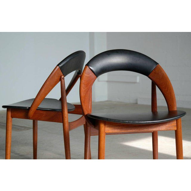 Wood Very Rare Set of Six Dining Chairs by Arne Hovmand Olsen For Sale - Image 7 of 10