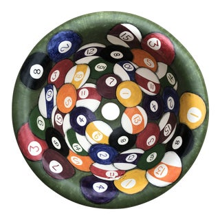 Marzi Hand Painted Pool Balls Sink For Sale