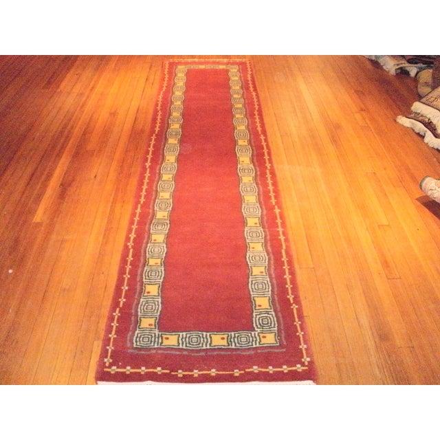 """Pasargad N Y Contemporary Tibetan Rug - 2'6"""" X 10'2"""" - Image 2 of 3"""