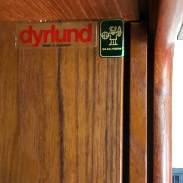 Mid-Century Dyrlund Danish Solid Teak Wall Cabinet For Sale - Image 9 of 13