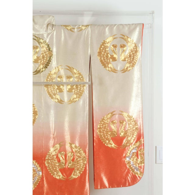 Japanese Ceremonial Kimono Framed in a Lucite Box For Sale In Los Angeles - Image 6 of 10