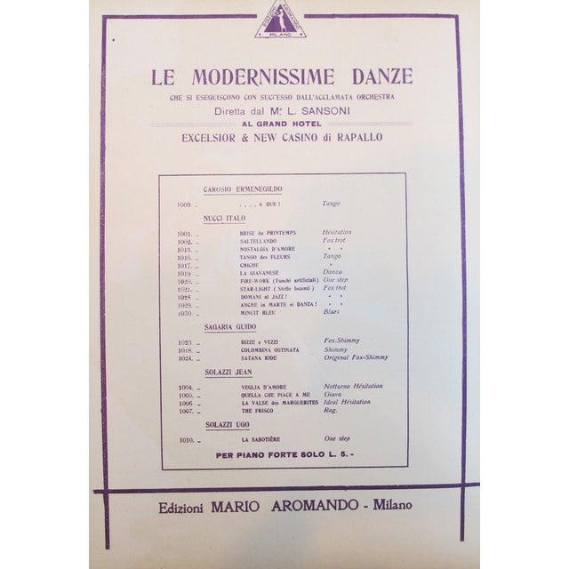 1925 Italian Music Sheet Love's Memory For Sale - Image 4 of 6