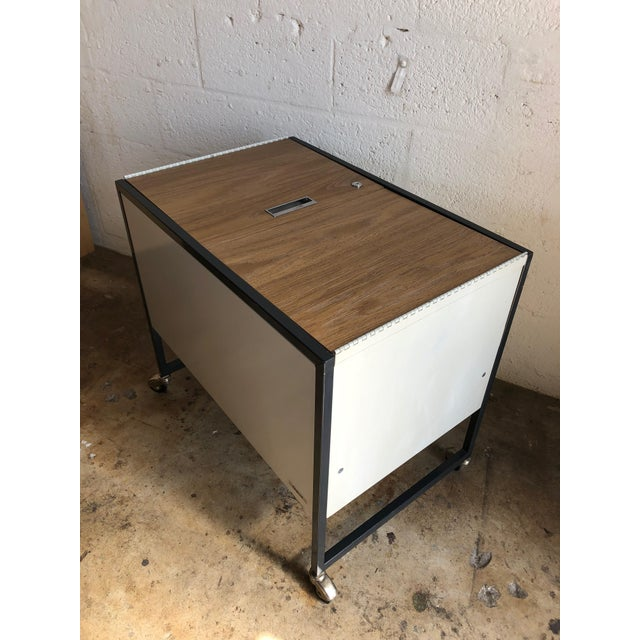 Vintage Mid Century Industrial Filing Cabinet/ Cart For Sale - Image 13 of 13