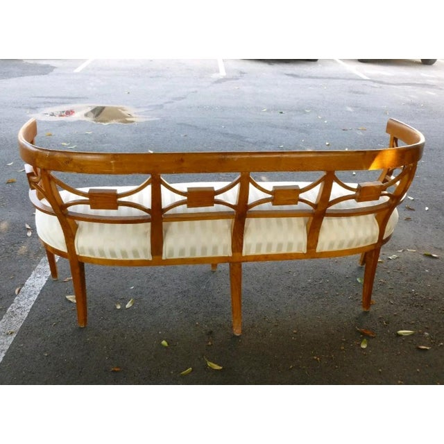 Mid 19th Century 19th C Italian Neoclassical Fruitwood Settee For Sale - Image 5 of 10