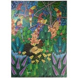 Image of Haitian Oil Painting on Canvas For Sale