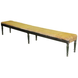 Very Large, Sober 19th Century Napoleon III 9' Foot Hall Bench, France, 1860