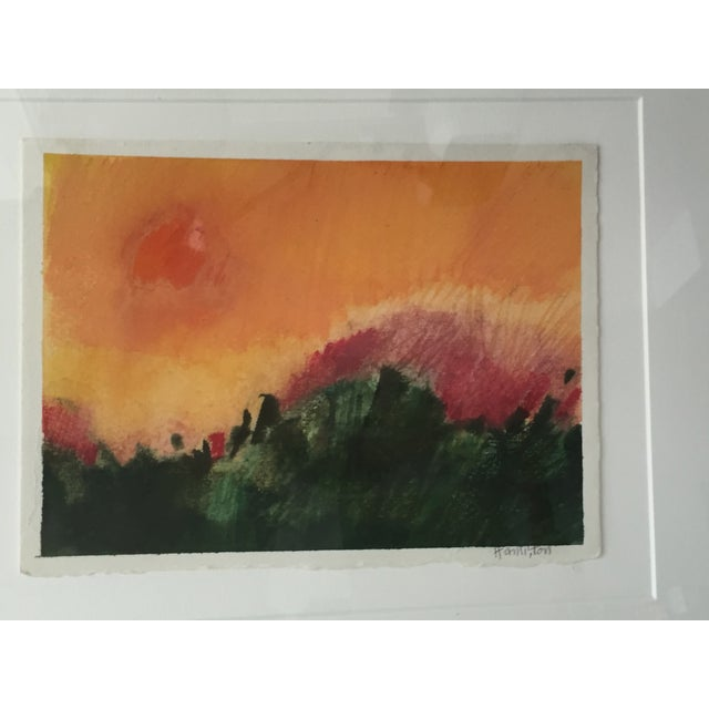 Modernist Abstract Landscape by Hamilton For Sale - Image 4 of 6