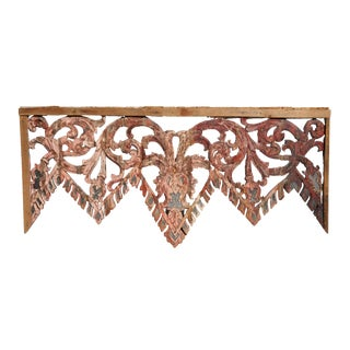 Carved Temple's Entrance Arch with Original Color For Sale