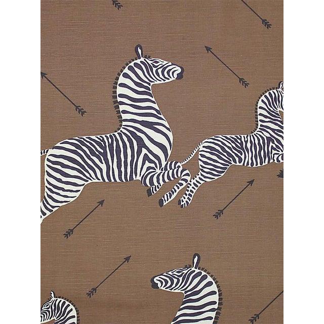 Sample, Scalamandre Zebras, Safari Brown Fabric For Sale
