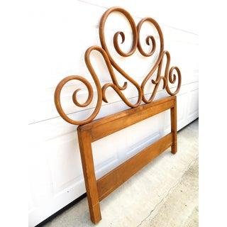 Antique Art Nouveau Bent Wood Twin Size Headboard Preview