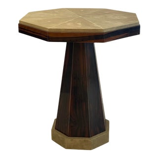 Art Deco Side Table Shagreen and Macassar Ebony For Sale