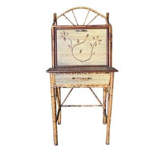 Restored Tiger Bamboo Secretary Desk, Aesthetic Movement For Sale
