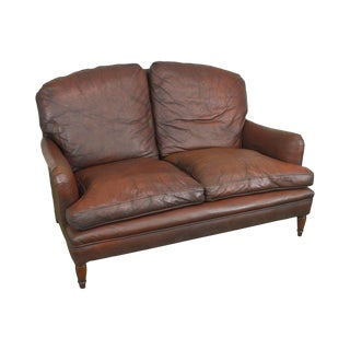 Brown Leather Vintage Loveseat From j.b. Van Sciver Co. For Sale