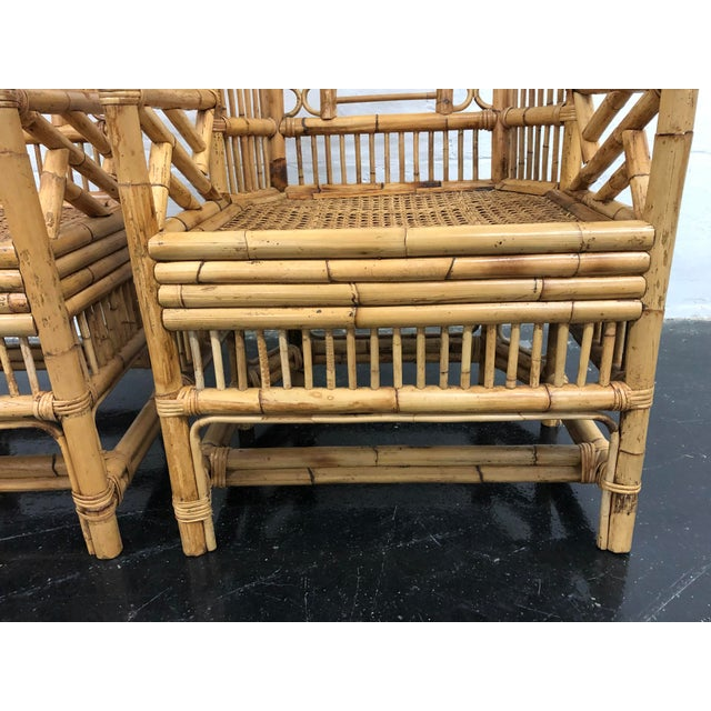 Pleasing 1970S Vintage Rattan Bamboo Brighton Style Chairs A Pair Download Free Architecture Designs Rallybritishbridgeorg