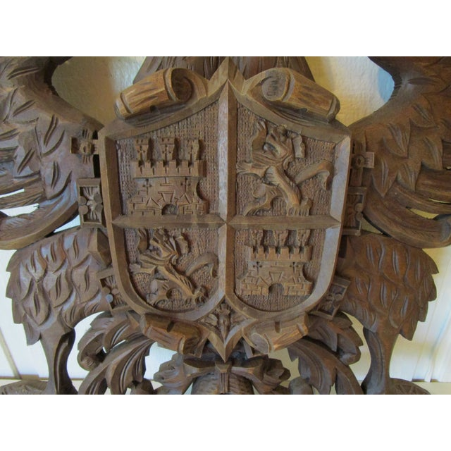 Carved Wood Coat of Arms For Sale - Image 4 of 6