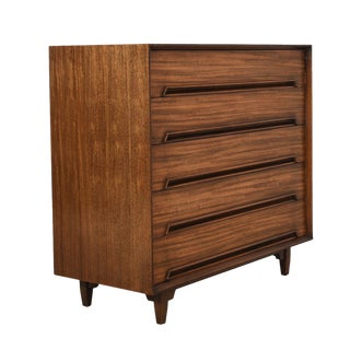 Tall & Wide MCM Dresser in Primavera Wood by Milo Baughman For Sale