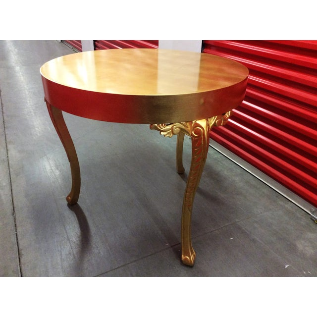 Gold Round Entry Table - Image 5 of 9