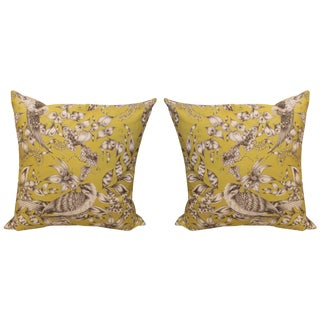Citrine Bird Pillows - a Pair For Sale