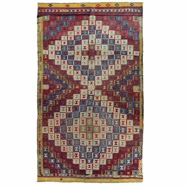 Vintage Turkish Kilim Cicim Flatweave- 5'' x 8'9'' - Image 1 of 5