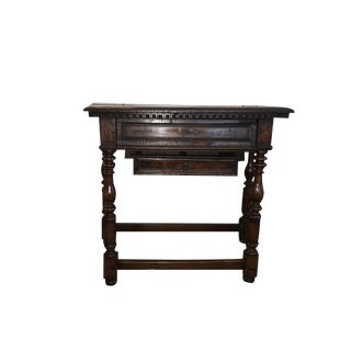17th to 18th Century Italian Walnut Hall Table / Desk For Sale