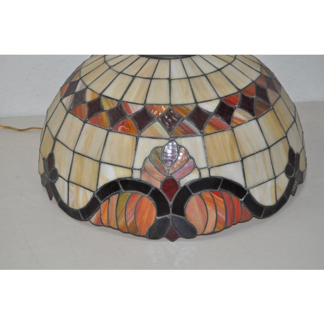 Stained glass dome pendant lamp c1950s chairish mid century modern stained glass dome pendant lamp c1950s for sale image aloadofball