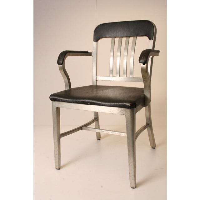 vintage general fireproofing aluminum office chair chairish