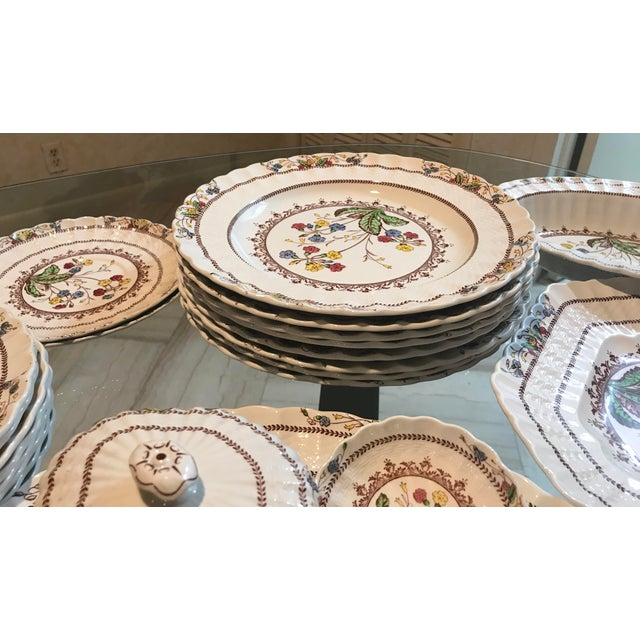 1940s Vintage Copeland Spode Cowslip China Set - 63 Pieces For Sale - Image 9 of 13
