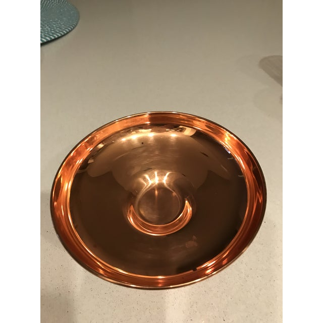 Contemporary Copper Candy Dish / Compote For Sale - Image 3 of 4