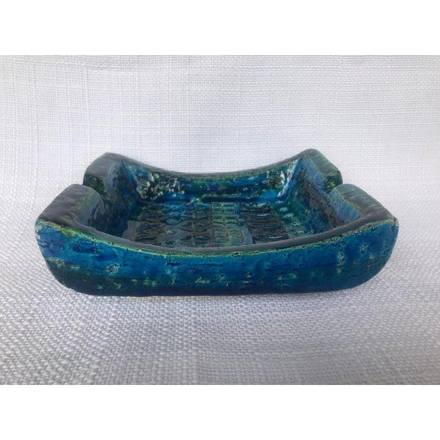 1960s 1960s Bitossi Rimini Blue Ashtray Platter Catchall Aldo London For Sale - Image 5 of 10