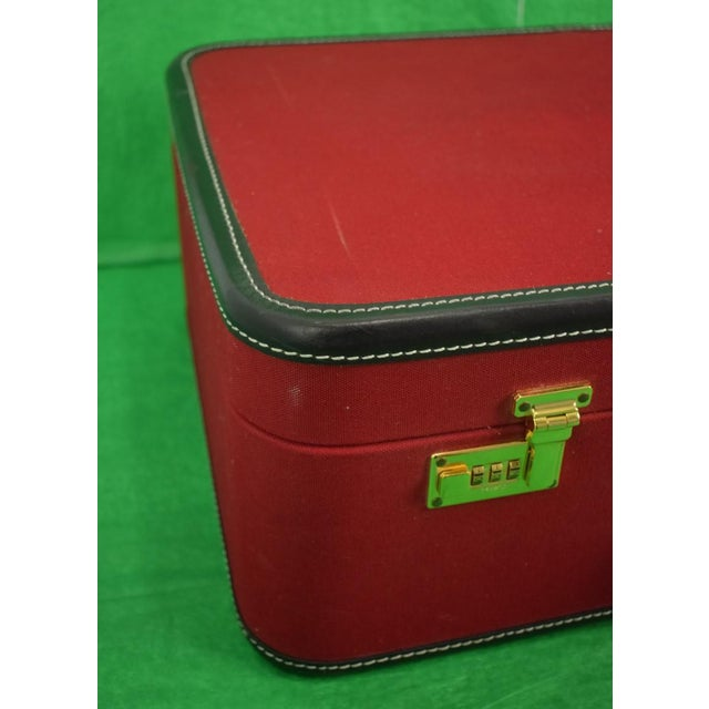 Canvas 1960s Traditional T Anthony Suitcase w/ TWA Label For Sale - Image 7 of 11
