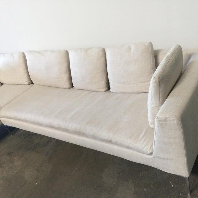 B&B Italia Antonio Citterio B&B Italia 'Charles' Sofa For Sale - Image 4 of 9