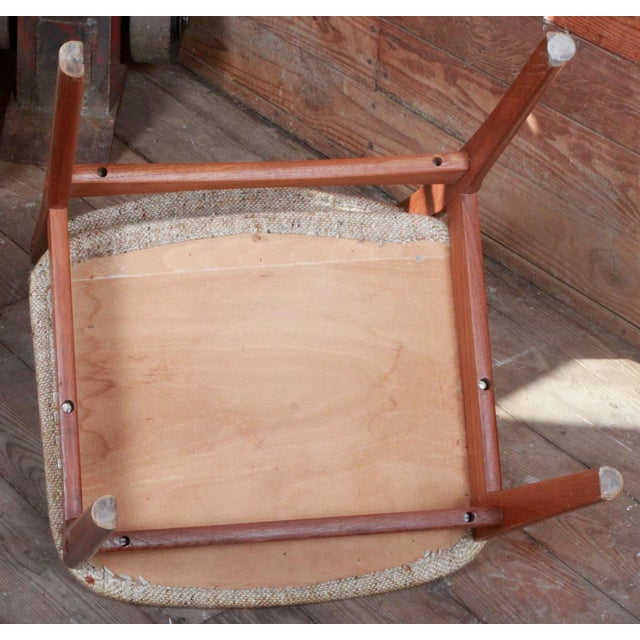 Vintage Teak Danish Modern Dining Chairs - Set of 4 - Image 7 of 9