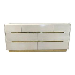 Vintage Lane Dresser With Brass Details For Sale