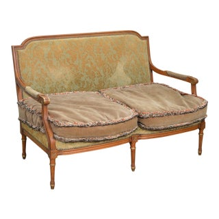 French Louis XVI Style Custom Settee Loveseat For Sale