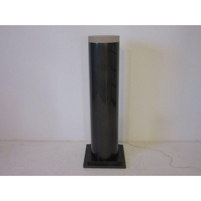 Memphis Styled Lucite Light Up Column Pedestal For Sale - Image 4 of 6