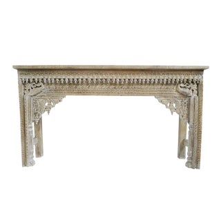 White Wash Architectural Console For Sale