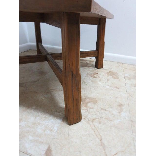 Wood Brandt Ranch Oak End Table For Sale - Image 7 of 11